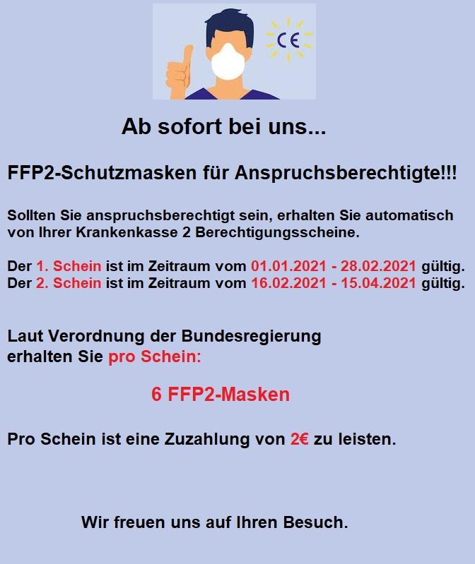 FFP2-Masken mit Berechtigungsschein